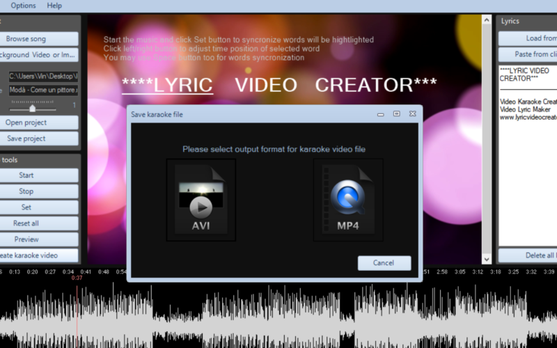 Lyric Video Creator – The Best Lyric Video Maker